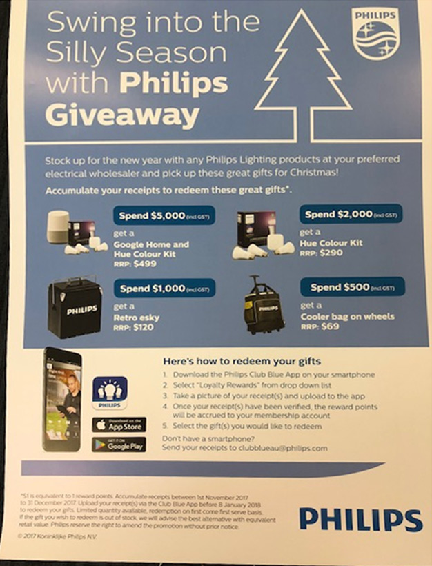 Phillips Lighting Trade Incentive Program.